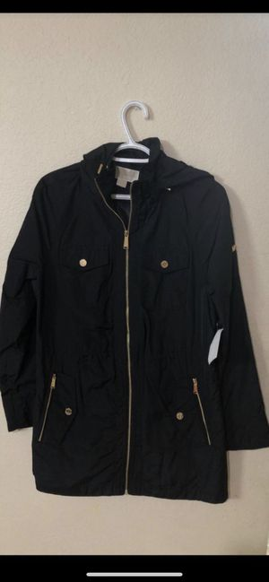 Michael Kors women's black winter rain jacket brand new with tags size medium for 90$ only great deal for Sale in Bellevue, WA