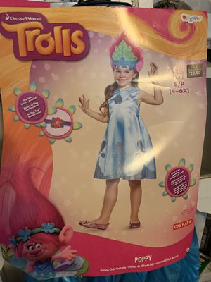Trolls Halloween costume size 4-6x for Sale in Fresno, CA