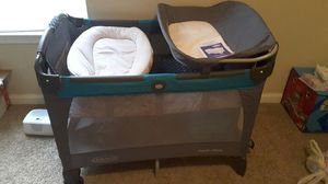 Used, Graco Pack & Play with Sleeper, Changing table, & side Storage for Sale for sale  Stockbridge, GA