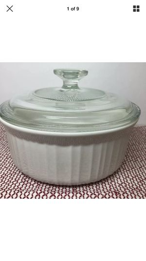 Corning Ware Stoneware French White Baking Casserole Dish 1 1/2 Qt -1.4L for Sale in Garland, TX