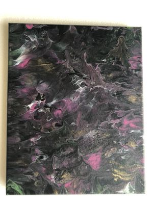 Canvas hand painted with fluid acrylic for Sale in Tampa, FL