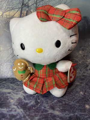 "New Sanrio TY Hello kitty with gingerbread cookie 6"" plush for Sale in Bellflower, CA"