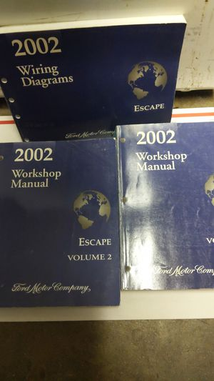 2002 ford escape work shop manual for Sale in Montclair, CA