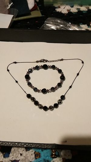 Necklace with black glass stones for Sale in Fort Worth, TX
