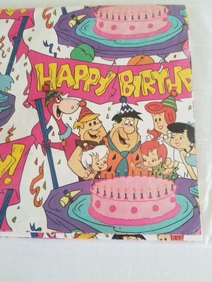 Flintstones gift wrap paper/ Area 77587 by Fiesta store on Spencer Hwy for Sale in South Houston, TX