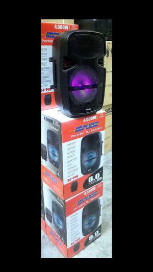 "Brand new 8"" portable party speaker. Bluetooth. USB. Aux connnection. Lights. Microphone input 1000 watts. for Sale in Miami, FL"