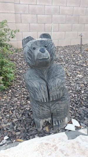 Carved Wooden Bears Pair of 2 for Sale in Avondale, AZ