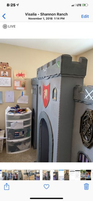 Harry Potter castle loft/playhouse twin bed $300 cash firm already disassembled for Sale in Fresno, CA