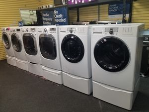 Kenmore electric front load set washer and dryer in excellen condition for Sale in Baltimore, MD