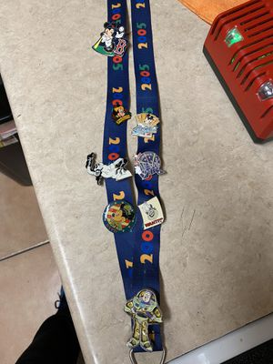 Disney Lanyard and pins. for Sale in Oviedo, FL