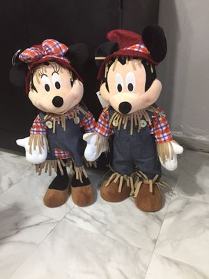 Scarecrow Mickey and Minnie stand on their own 2ft y'all for Sale in Cartersville, GA