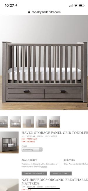 RH Baby & Child Haven Crib for Sale in Claremont, CA