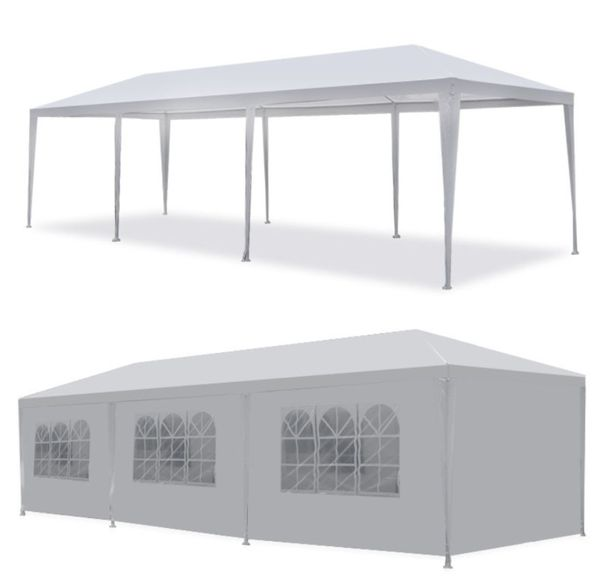 10' x 30' Outdoor Gazebo Wedding Canopy Party Tent Shelter 8 Removable Walls Windows