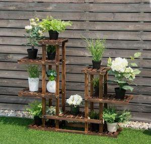 6 Tier Wooden Shelf Storage Plant Rack Stand Flower Stand Rack Garden Pot Racks for Sale in Claremont, CA