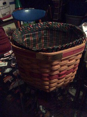Longaberger Christmas Basket for Sale in Ellicott City, MD