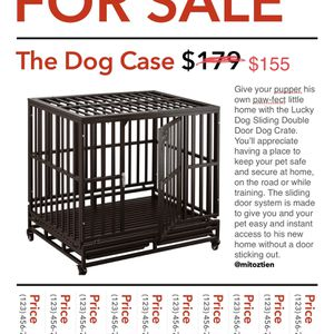 Dag Cage Crate Kennel Heavy Duty Tear -42 Inch Heavy Duty Dog Crate Single Door Dog Kennel for Sale in Santa Ana, CA