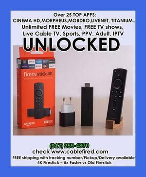 unlocked fire TV stick 4k for Sale in Hoboken, NY