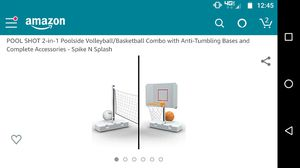 Pool combo set basketball/volleyball for Sale in Chandler, AZ