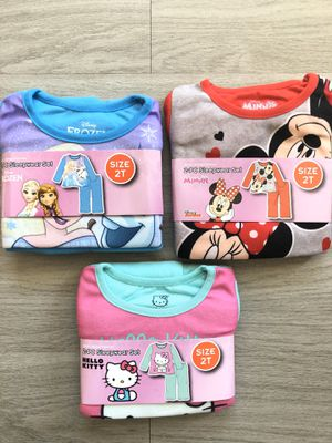 Girls MINNIE MOUSE, HELLO KITTY PJ's - Size 2T for Sale in Virginia Beach, VA