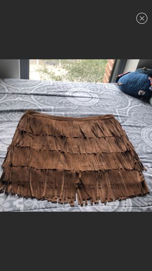 Zara Faux Suede Fringe Skirt for Sale in Houston, TX