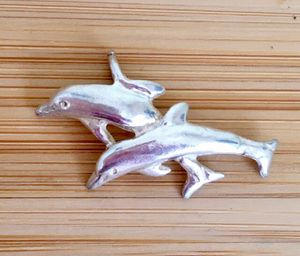 Sterling Silver Dolphins Charm for Sale in Puyallup, WA