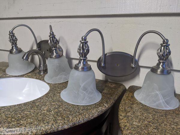 Beautiful Bathroom Vanity's & Light Fixtures