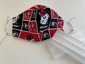 GA Bulldogs Cotton Mask w HEPA Filters for Sale in Jacksonville, FL