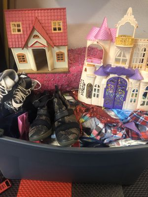 Toddler clothes boy and girl and toys box is full for Sale in Canyon Lake, CA