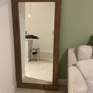 Wooden Floor Mirror for Sale in Miami, FL