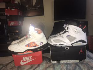2 PAIR OF AIR JORDAN RETRO 5s AND 6s SIZE 13 for Sale in San Jose, CA