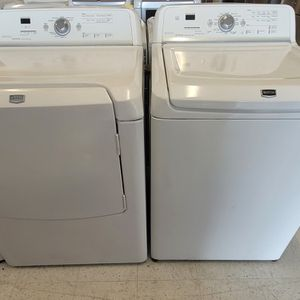 Maytag Tap Load Washer And Electric Dryer Set Used In Good Condition With 90day's Warranty for Sale in Brentwood, MD