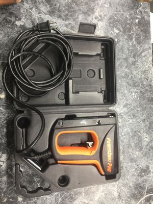 Powershot pro heavy duty electric staples and nail gun for Sale in Chevy Chase, MD