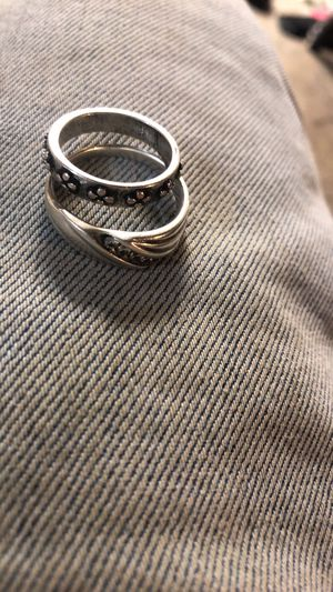 Sterling silver and diamond rings for Sale in Leland, IA