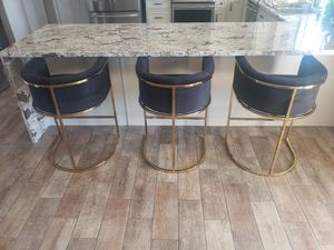Counter stool chair **BLACK AND GOLD ** 5 AVAILABLE for Sale in Las Vegas, NV