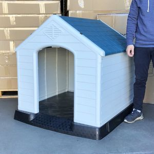 $140 (new in box) waterproof plastic dog house for x-large size pet indoor outdoor cage kennel 42x40x45 inches for Sale in Pico Rivera, CA