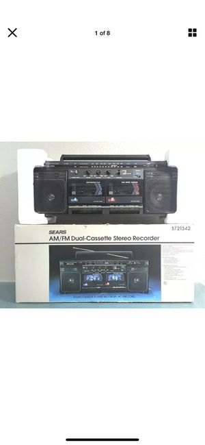 Sears SR 2000 Series Am/Fm Stereo Cassette Recorder/New #859 for Sale in Irvine, CA