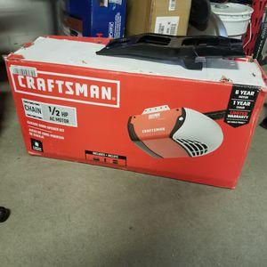 CRAFTSMAN 0.5-HP Smart Chain Drive Garage Door Opener with MyQ for Sale in Atlanta, GA