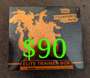 Champions Path Pokemon Cards Charizard VMAX ETB Elite Trainer Box Sealed TCG Card Game Booster Packs for Sale in Arcadia, CA