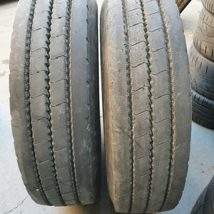 (2) 295 75 22. 5 Steer Tires for Sale in South Gate, CA