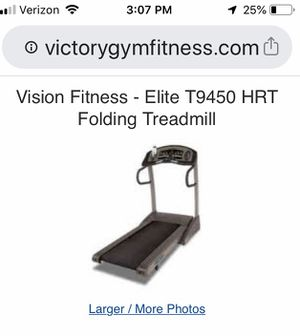 Vision Fitness folding treadmill for Sale in Columbus, OH