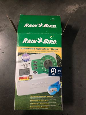 Automatic sprinkler timer with the rain sensor in three programs for Sale in Spring Valley, CA