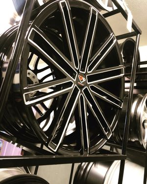 BRAND NEW set (4) 20 inch Gloss Black and Milled rims for only $700!!! for Sale in Tacoma, WA