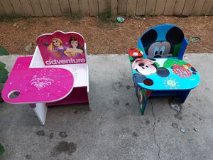 Disney desks for kids used for Sale in Fontana, CA