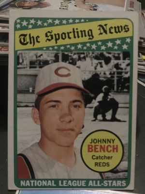 '69 Topps Johnny Bench All Star, EX for Sale in Ontario, CA