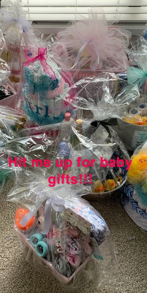 Spoiled babies baskets and diaper-cakes $50-$80 for Sale in Marietta, GA