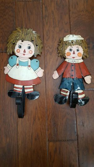 Raggedy Ann and Andy coat hooks for Sale in Cleveland, OH