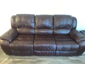 Brown leather couch low price for Sale in Phoenix, AZ