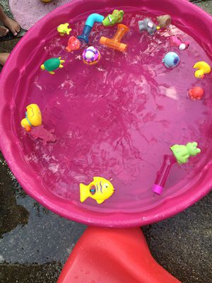 Small pool with toys for Sale in Gaithersburg, MD