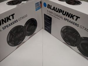 Car speakers : ( total 2 pairs) blauounkt 2 pair 6.5 inch 4 way 360 watts car speakers ( brand new price is lowest shipping available ) for Sale in Bell Gardens, CA