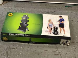 Steel dumbbell rack new in box for Sale in Orlando, FL